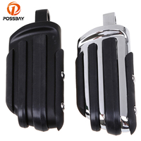 Vintage Motocross Motorcycle Footrest Highway Foot Pegs Motorbike Pedal ATV Off Road Scooter Accessories Chrome Black