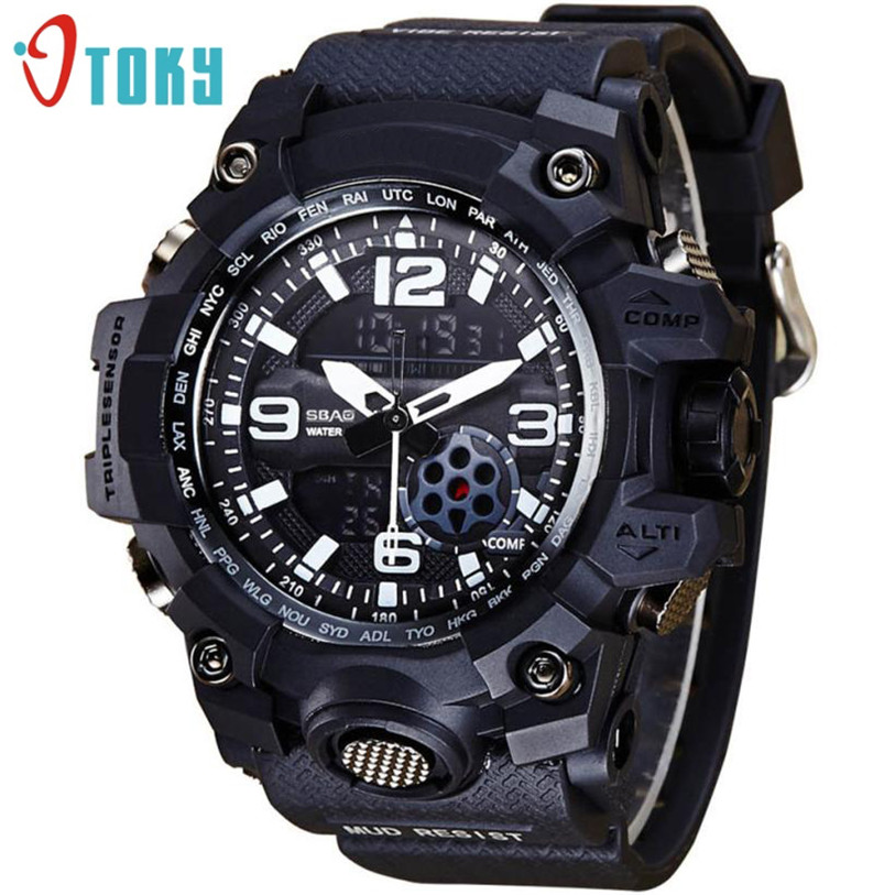 OTOKY mens 42cm dial resin case waterproof diving extreme sports multi-color fashionable outdoor sports watch +BOX gao12