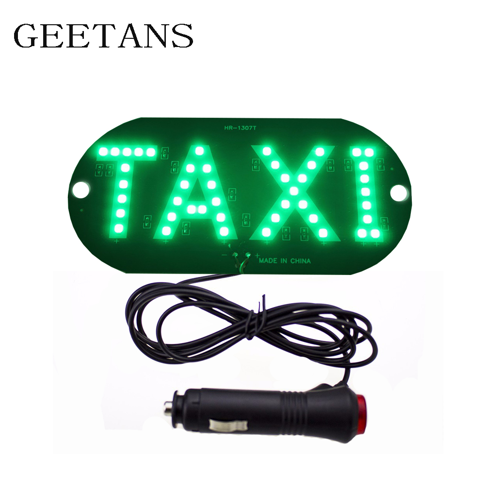 1pcs lot 12V Taxi Led Car Windscreen Cab indicator Lamp Sign Blue LED Windshield Taxi Light Lamp 4 colors CE