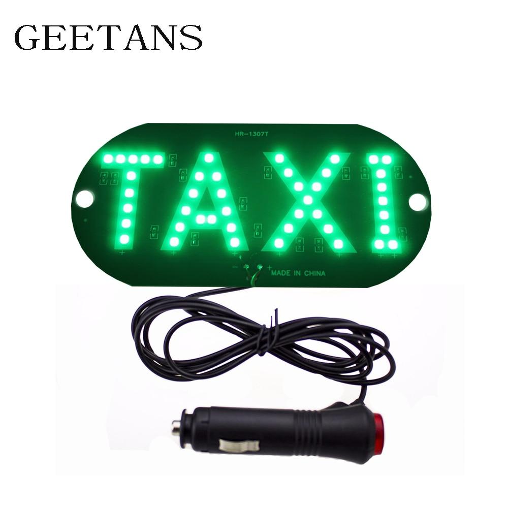 1pcs lot 12V Taxi Led Car Windscreen Cab indicator Lamp Sign Blue LED Windshield Taxi Light Lamp 4 colors CE