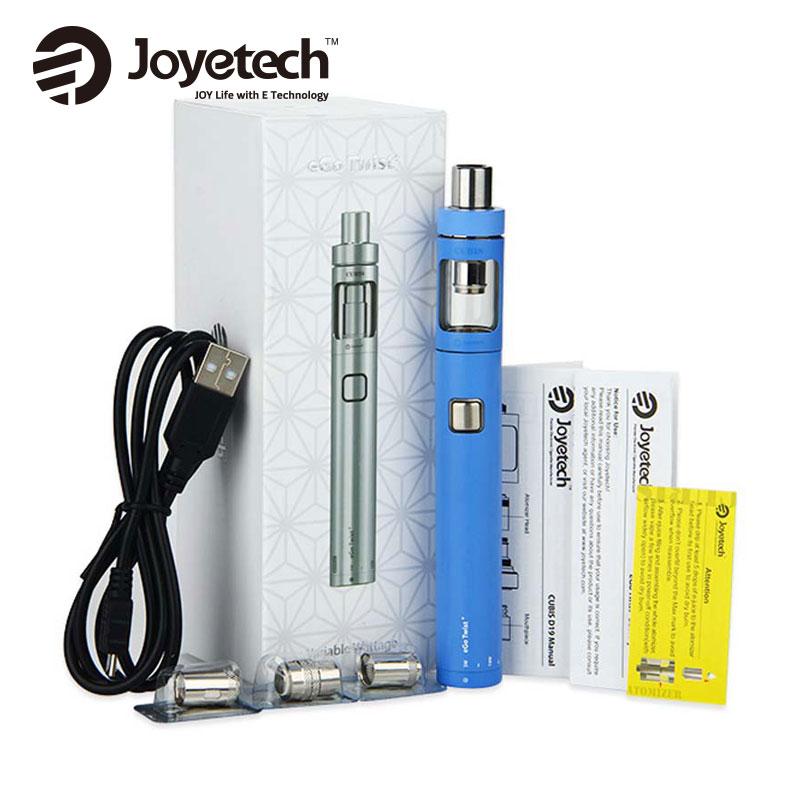 Originale Joyetech Torsione EGo + Kit E-Cig con 1500 mAh EGo Torsione + Batteria Mod e 2 ml E-succo di Capacità CUBIS D19 Atomizzatore Serbatoio