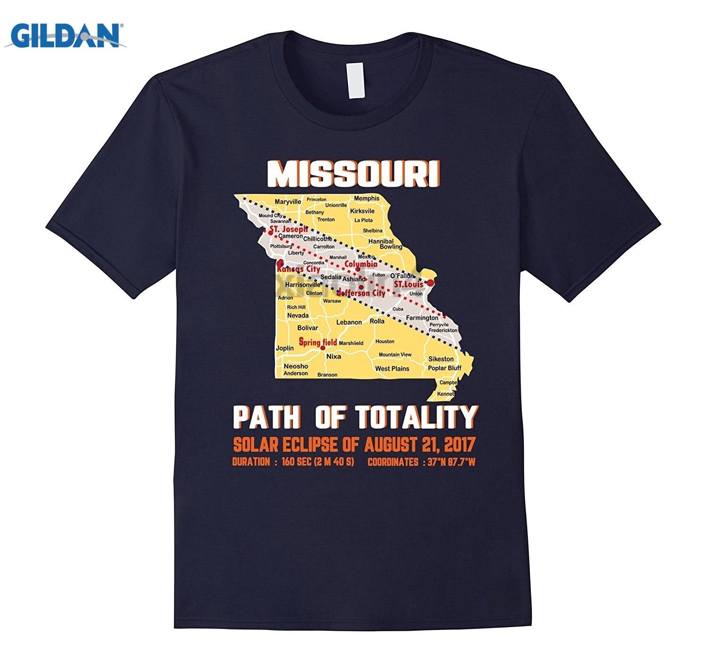 GILDAN Solar Eclipse T Shirt PREMIUM MISSOURI PATH of TOTALITY designer t shirt Brand Clothihng Top Quality Fashion T Shirt