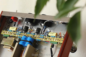 Image 5 - Himing ライバル RH34W EL34 チューブアンプ hifi エクスキ木材バージョンシングルエンド統合手作り足場アンプ