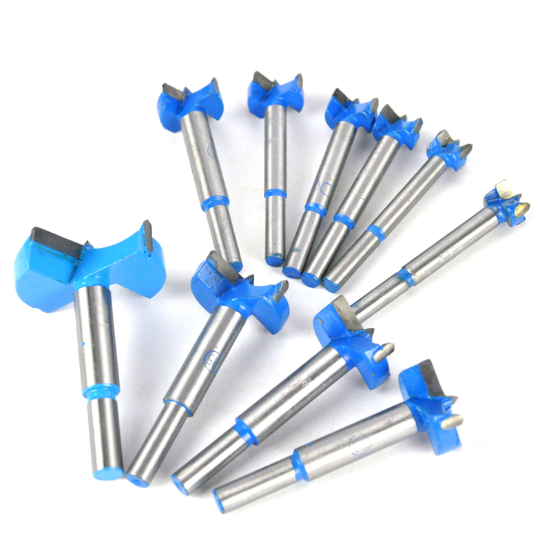 10pcs Mixed Size 16mm-50mm 18mm 20mm 30mm 35mm 50mm Cutting Diameter Hinge Boring Forstner Drill Bit Woodworking Hole Saw Cutter high quality 55mm blue gray forstner sharp tip hinge wood drill boring bit