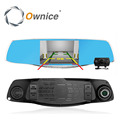 Ownice FHD 1080P Dual lens Review Mrror Car DVR Parking Rear View Rearview Mirror Monitor 4.3 INCH G-sensor, motion detection