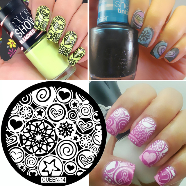 Nail Stamping Plates Witch Tarot Symbol Pattern Nail Art Stamp Template  Image Plate 1PC QUEEN Series - Nail Stamping Plates Witch Tarot Symbol Pattern Nail Art Stamp