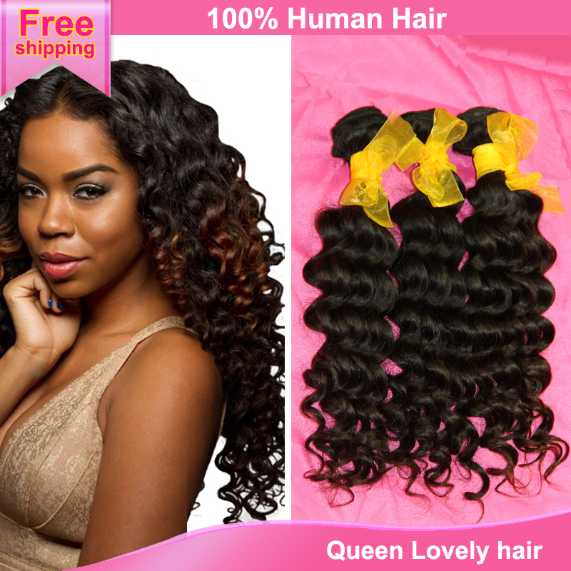 African American Deep Wave Hairstyles 4pcs Lot Discount Cheap