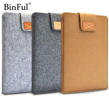 BinFul 11in 12in 13in 15 inch Wool Felt Laptop Sleeve Bag Case Protection Cover Soft Liner Computer Cover For Man Women Students