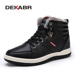 DEKABR/очень теплые Мужские зимние ботинки высокое качество осенне-зимние сапоги Для мужчин Водонепроницаемый из мягкой искусственной кожи о...