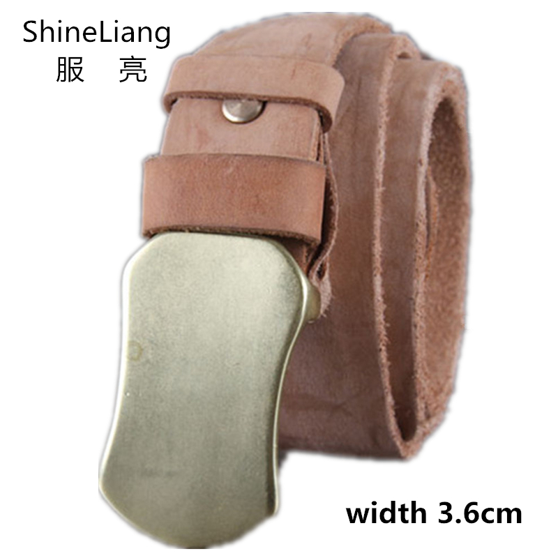 Belts for men Cowhide Genuine Leather brand Strap male pin buckle fancy vintage jeans strap male