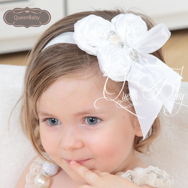 Baby Girls Nylon Headband Haarbandje Hairband Ribbon Bow Baby Hair Bows Headwear Infant Toddlers Hair Accessories Kidocheese