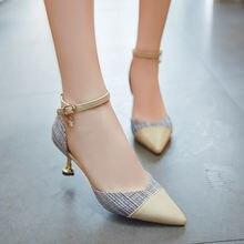 Туфли лодочки женские на среднем каблуке 3 5 см заостренный