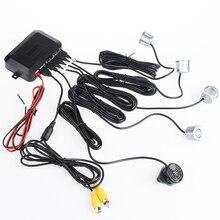 Vídeo do carro Sensor de Estacionamento Reverso Assistência Radar Backup Com 4 Sensores, Detector de Radar Parktronic Estac Sensor de Para DVD