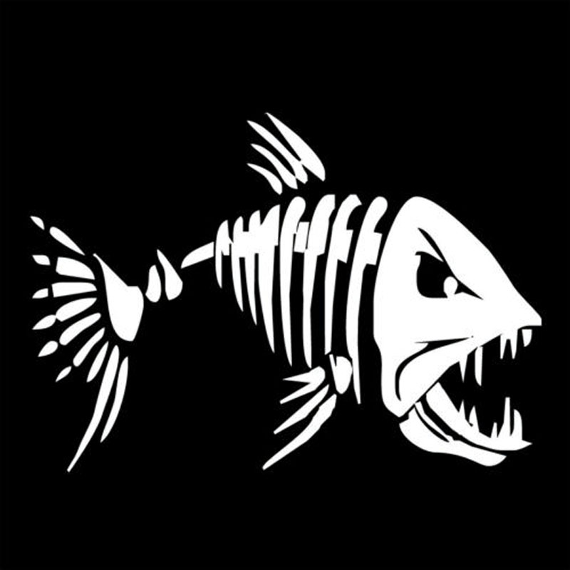Image 2 - YJZT 17.8*12.6CM Mad Fish Funny Decal Car Window Decoration Vinyl Stickers Motorcycle Accessories C4 0750-in Car Stickers from Automobiles & Motorcycles