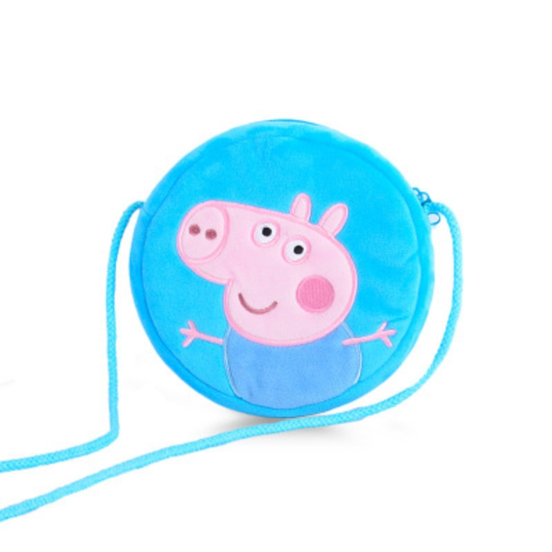 4 Style Genuine Peppa Pig Little Girl George Pink Pig Plush Toy Child Girl Boy Kawaii Backpack Wallet Bag Doll Children's gift 1