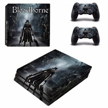 Bloodborne vinyl Decal Skin Sticker For Sony Playstation 4 PS4 Pro promotion Console +2Pcs Controller Film Stickers