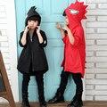 Hot 2017 muchachas de los muchachos sudaderas dinosaurio ropa para niños sudaderas niños de la historieta outwear tops traje abrigo fresco 1-10y