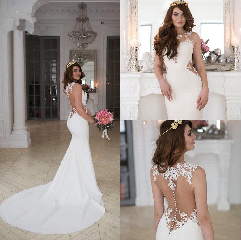 vestidos de novia corte sirena baratos – vestidos baratos