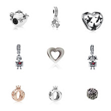 I love mom or dad Heart clasp Ring crown The teapot Plum beads A clover Five-pointed star dotted with love(China)