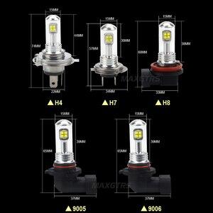 Image 2 - 2x H4 H7 H8 H11 9005 9006 HB3 HB4 40 ワット CREE LED チップ電球日中走行用ライト 6000 k 白車フォグランプ DRL ヘッドライト DC12V