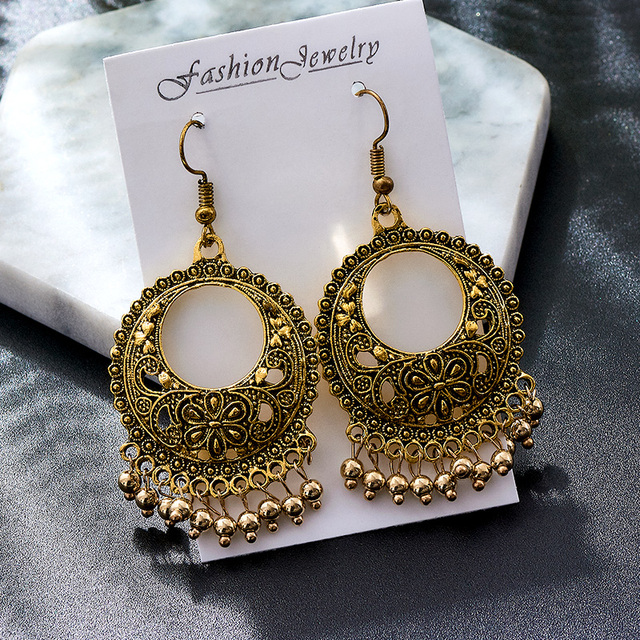 Купить shuangr модные популярные золотистые металлические висячие серьги картинки