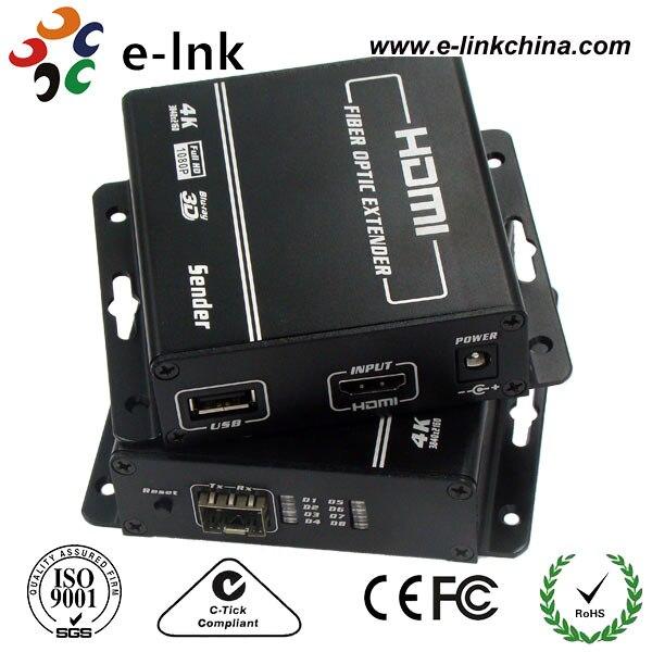 4 К HDMI KVM Волокно оптический удлинитель с клавиатурой и Мышь USB Порты и разъёмы