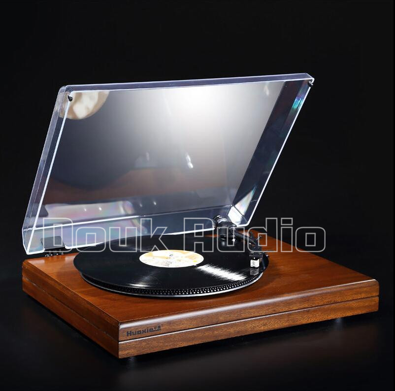 2016 New Douk Audio HiFi Stereo Turntable Retro LP Vinyl Record Player with Phono Pre-Amplifier 220V