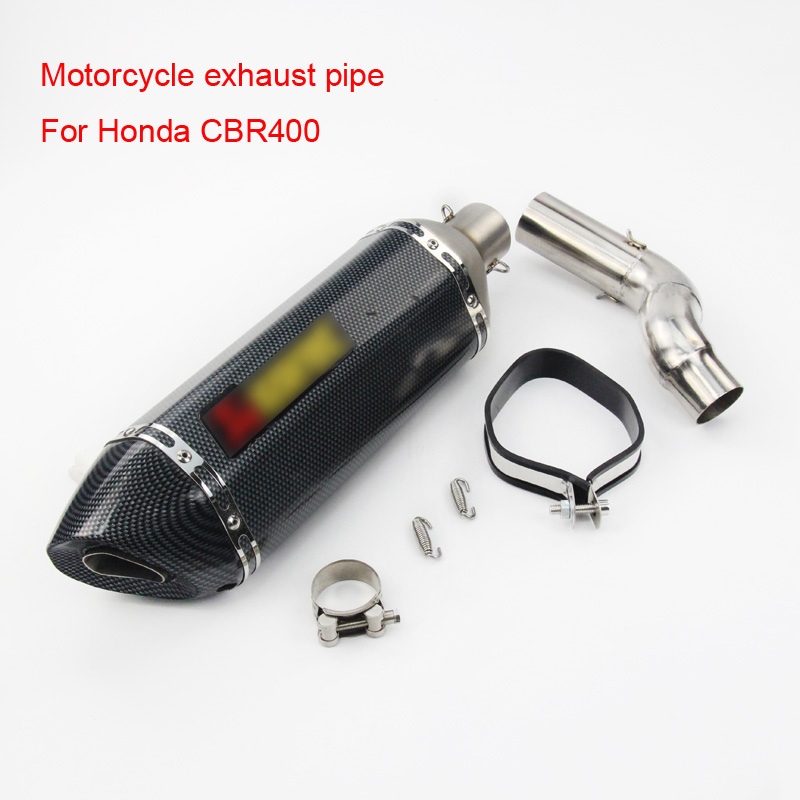 Motorcycle Exhaust Pipe Laser Marking Movable Db Killer With Middle Connect Pipe For Honda Cbr400 2016