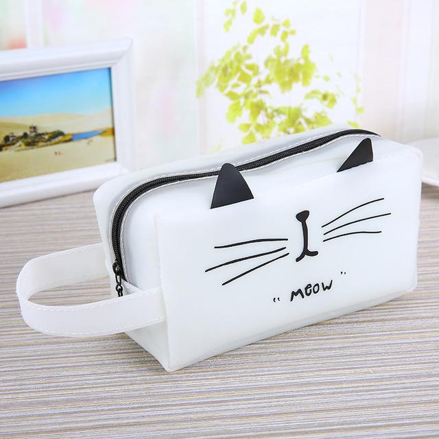 Cute Cat Printed Waterproof Pen Case