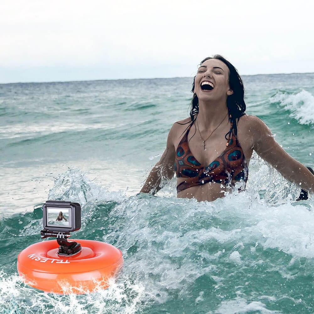TELESIN Caméra Air Flotteur Gonflable Flottant Airbag Plate-Forme Dynamique Pad pour GoPro Hero7 Hero 6 5 4 3 pour Xiaomi YI 4 k pour SJCAM