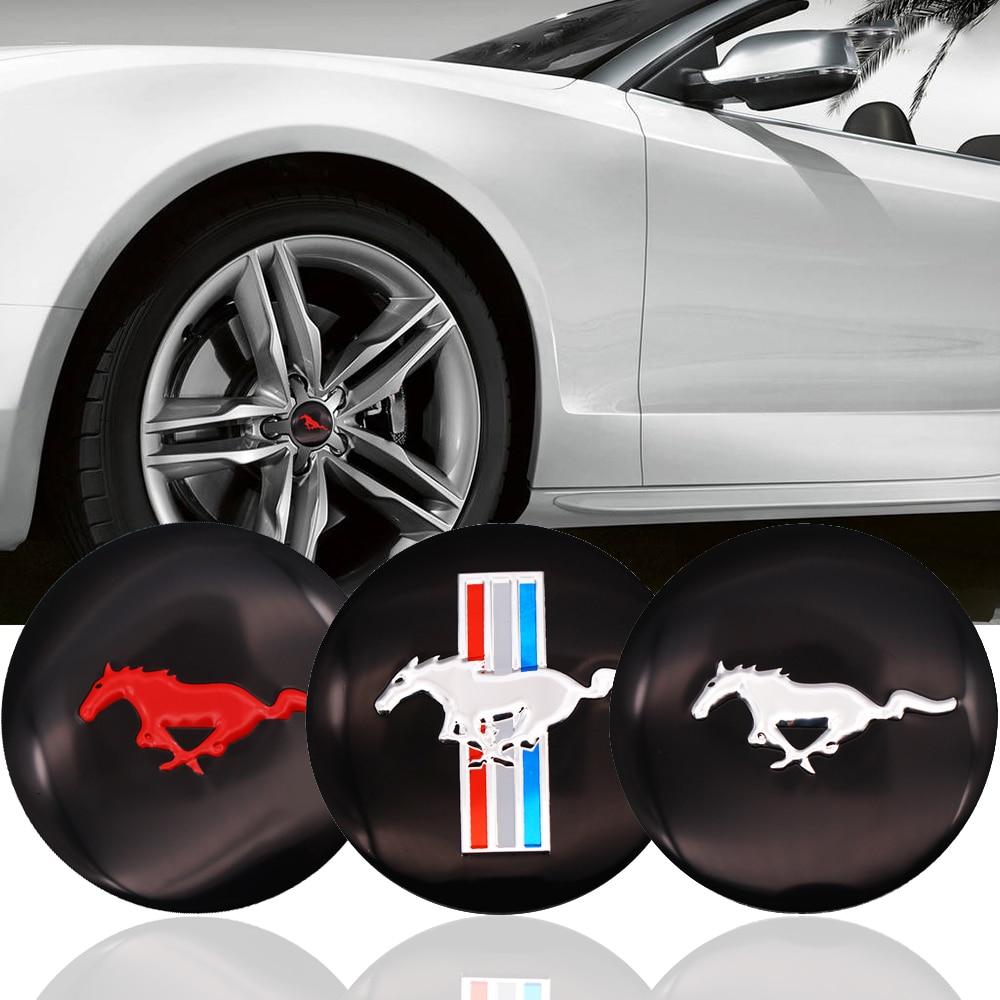 4 шт. 56 мм 3D флаг с лошадью Авто Руль центр ступицы колпачок эмблема значок наклейки для Ford Mustang автомобильные Стайлинг Аксессуары