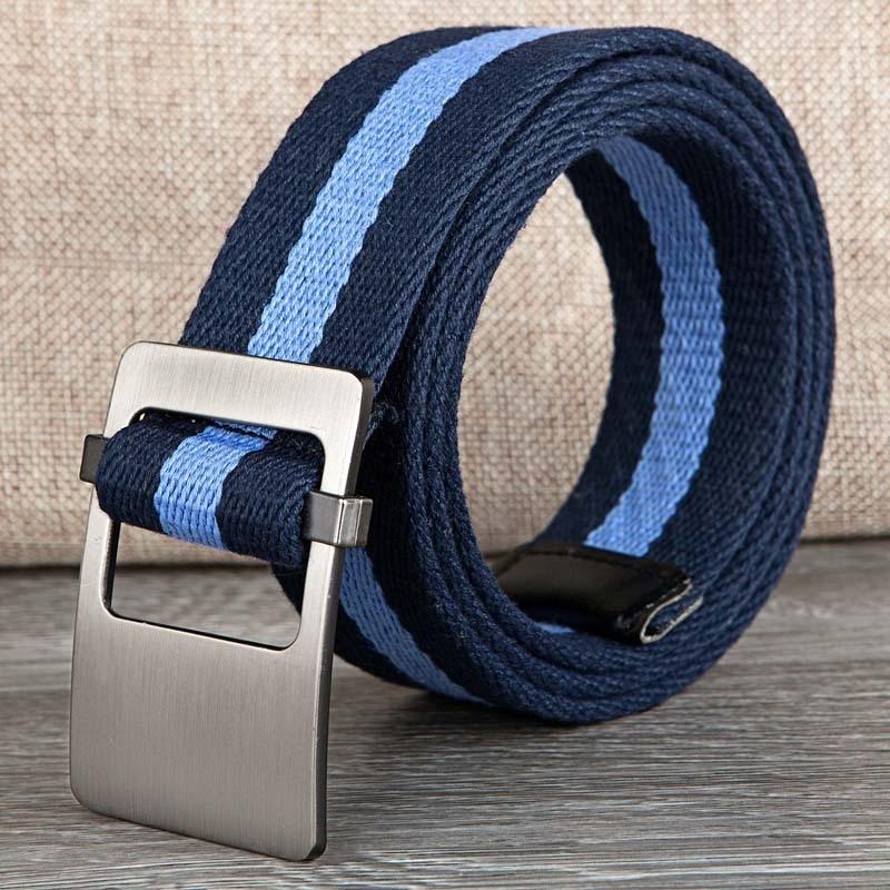 Ladies Women Unisex Canvas   Belt   Waist Strap Female 110cm-130cm Casual Style Chromatic stripe Men Women   Belt   For Jeans