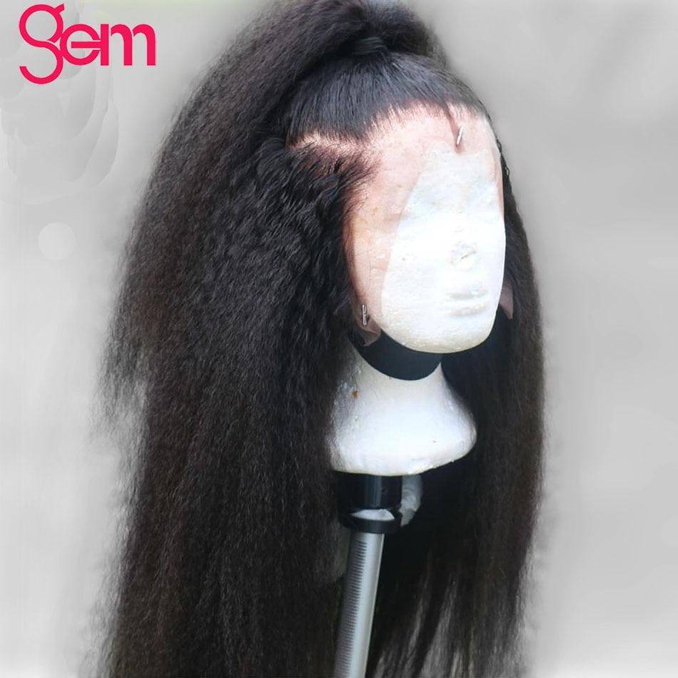 Peluca recta rizada 13x4 Peluca delantera de encaje de cabello humano - Cabello humano (negro) - foto 5