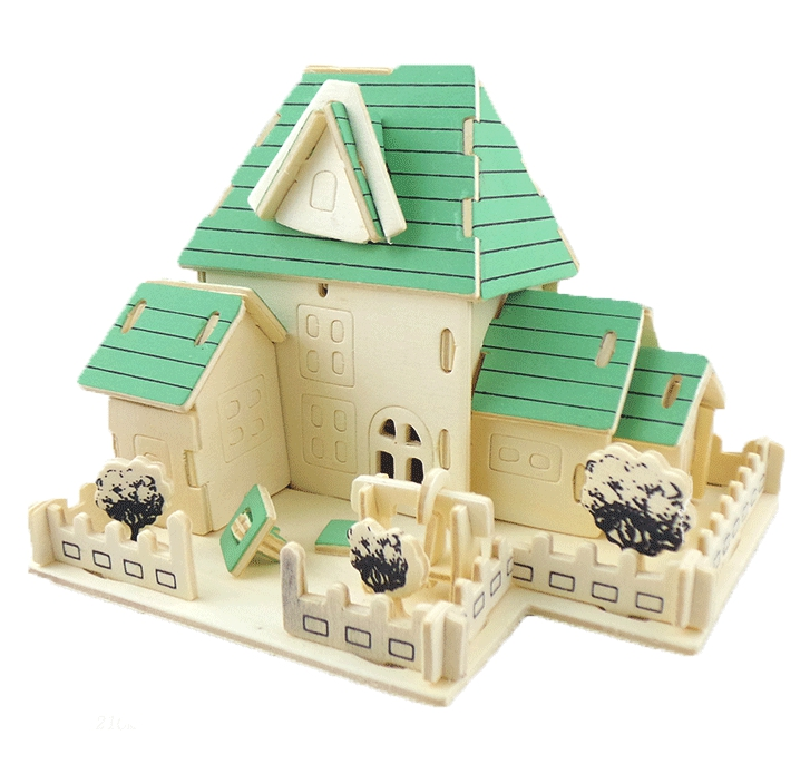 Educational Toys 3D Puzzle Happy Home Assembling Model of Miniature Diy
