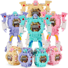 1pc Creative Electronic Robot Watch Toy for Children Gift Deform Robot Cartoon S