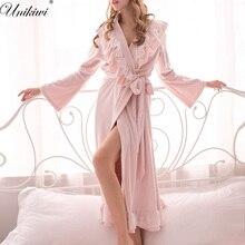 Sleepwear feminino roupões de banho grosso quente veludo pijamas. chuveiro de inverno spa robe noite roupões de dormir roupão de banho roupão de banho