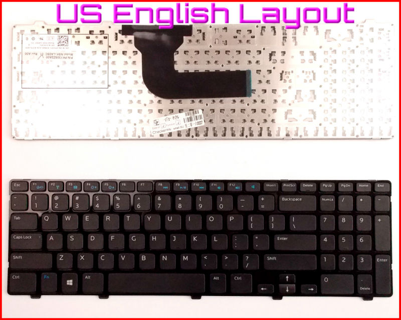New Keyboard US English Version For Dell Inspiron 15 15R 3521 3537 15R 5421 5521 5537 5535 15-3521 15V-1316 Laptop