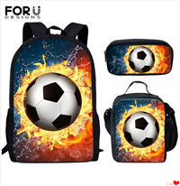 FORUDESIGNS-3set-pcs-Kids-School-Bags-Men-Bagpack-Cool-Soccer-Football-Printing-Children-s-Schoolbags-Backpack