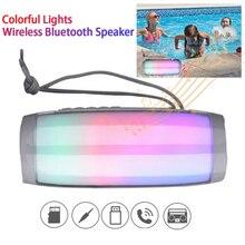 TG157 Bluetooth Speaker Portable LED Wireless Column Waterproof Radio Sound Bar Boom Box FM Radio Subwoofer Sound Box 1200 MAh