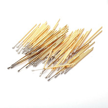 цена на 100Pcs PL75-H2 Test Probe Instrument Length 33.35MM Nickel Plate Pogo Pins Dia 1.3mm Phosphor Brass Spring Pressure Test Probe