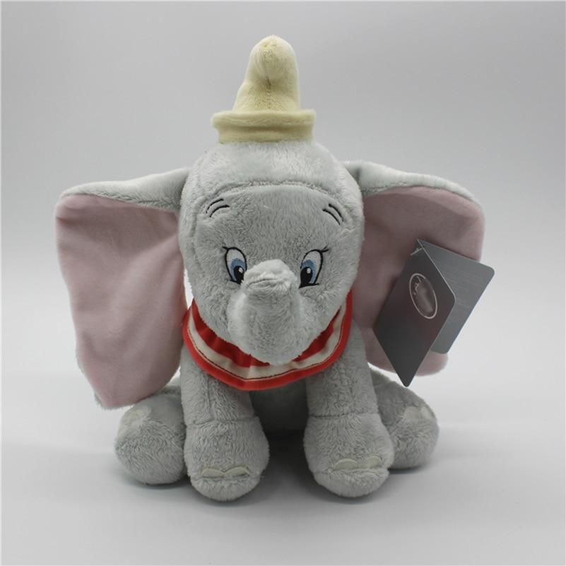 1pcs Sitting 25cm Dumbo Elephant Plush Toys Dumbo Stuffed Animals Soft Toys for boy gift