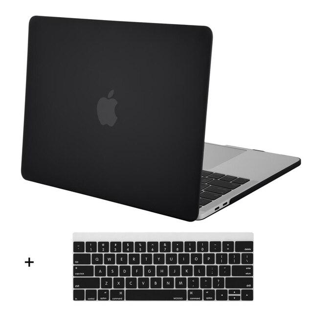 Mosiso Черный Ясно Твердый Переплет Чехол для Macbook Pro 13 15 с или без Сенсорной Панели Новый Выпущен Октября 2016 A1706/A1708/A1707