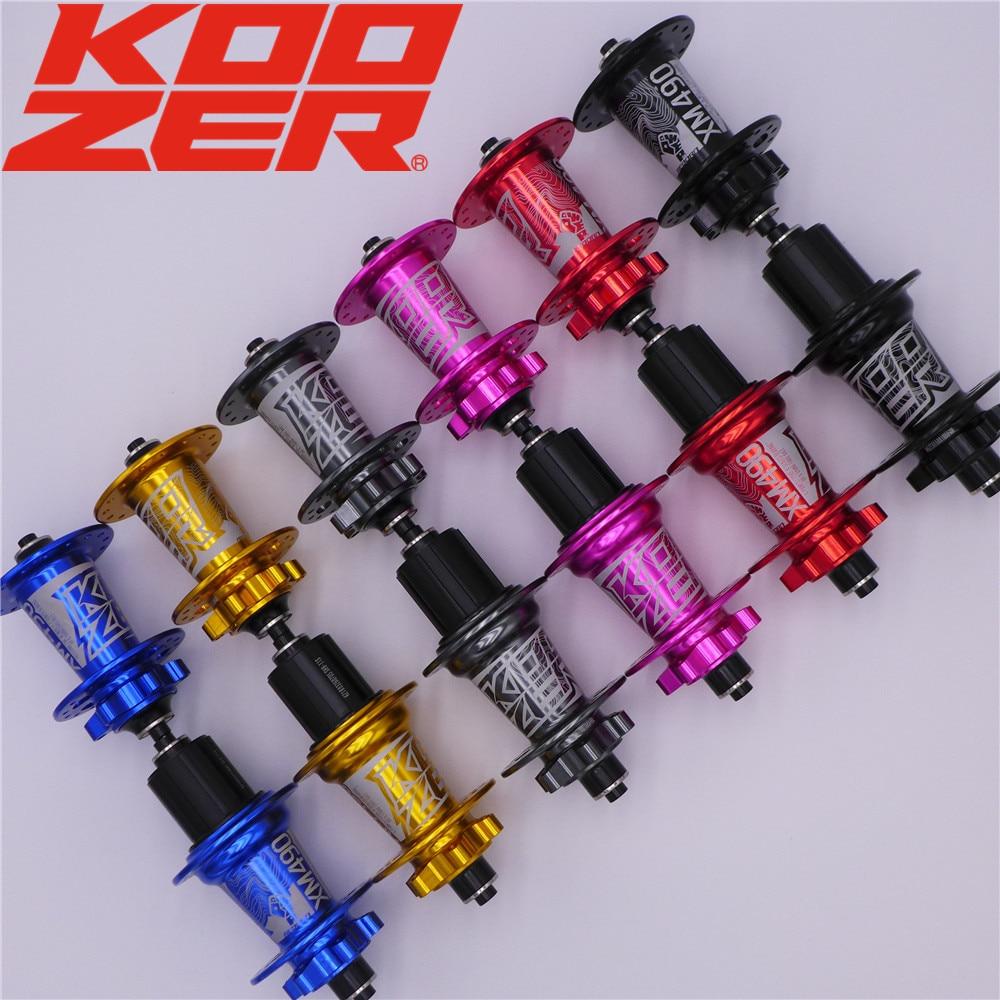 6 XM490 KOOZER MTB Mountain Bike Parafuso Disco Hubs Dianteiro Traseiro Hub 100*9/15 135*10 142*12 milímetros QR THRU Freebody XD