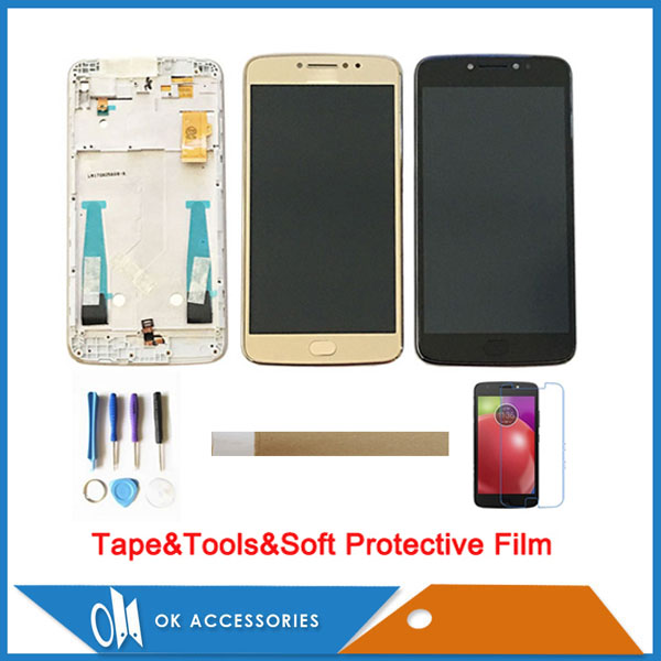 5.5 Inch For Motorola <font><b>Moto</b></font> <font><b>E4</b></font> <font><b>Plus</b></font> <font><b>XT1770</b></font> XT1773 XT1771 XT1772 LCD <font><b>Display</b></font> Touch Screen Digitizer With Frame With Kits image