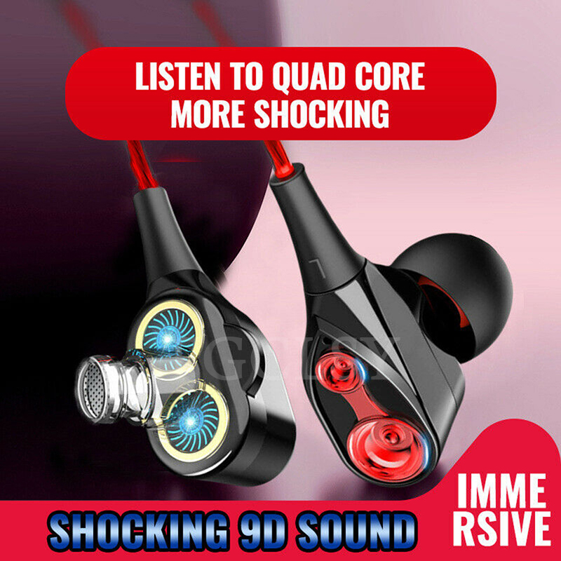 FGCLSY Dual Drive 3.5mm Stereo Earphone High Bass In-Ear Headset With Mic Sports Earbuds Earphones For Huawei Xiaomi