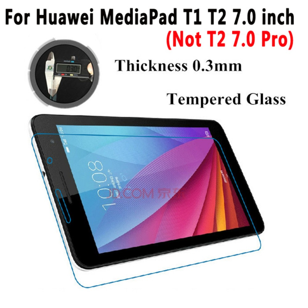 For Huawei Mediapad T1 7.0 Glass Screen Protector For Huawei MediaPad T1 7.0 T1-701u & Huawei MediaPad T2 7.0 Tempered Glass аккумулятор для huawei mediapad 10 6400mah cameronsino