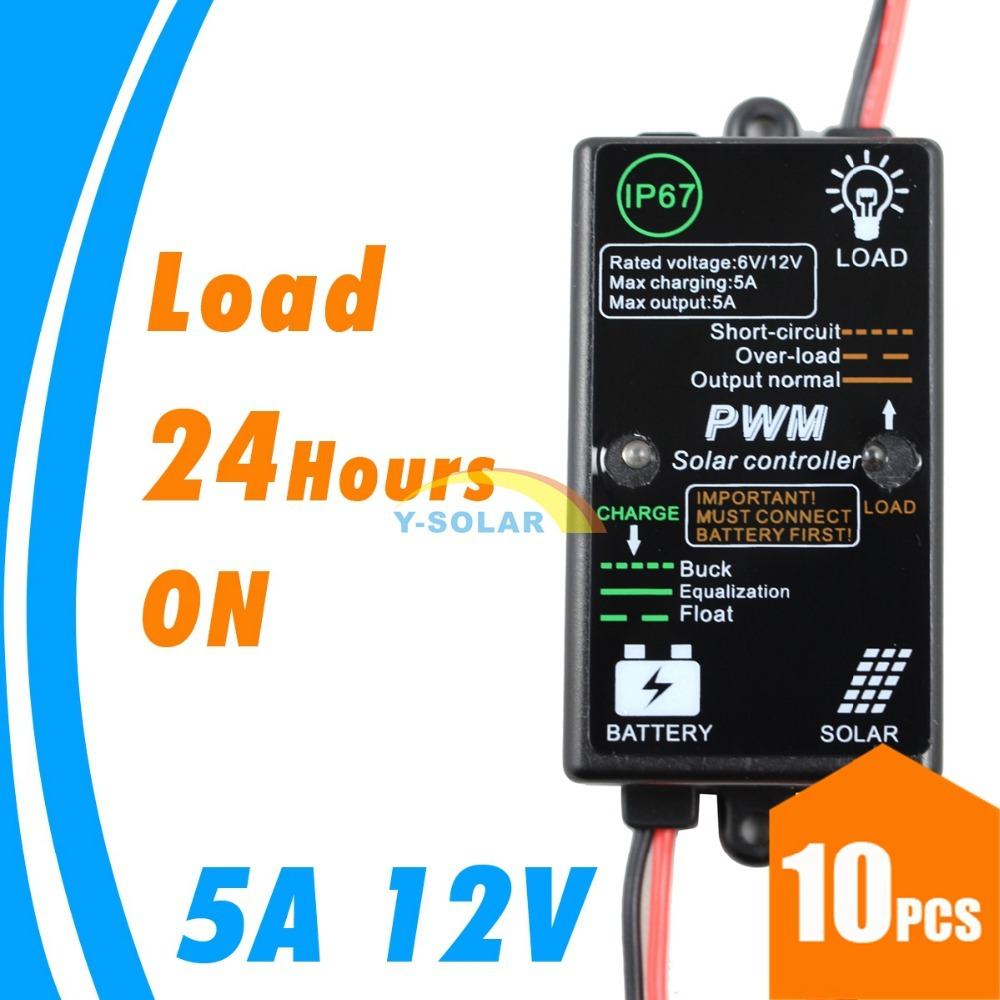 10 Pieces 5a Mini Solar Charge Controller Without Light And Timer Led Street Pwm Circuit Diagram Control 12v Regulator For System In Controllers From Home