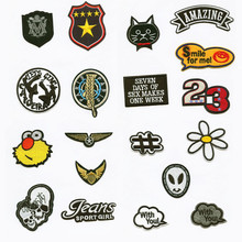 Skull Flower Cloud Patchwork Patch Embroidered Patches For Clothing Iron On Close Shoes Bags Badges