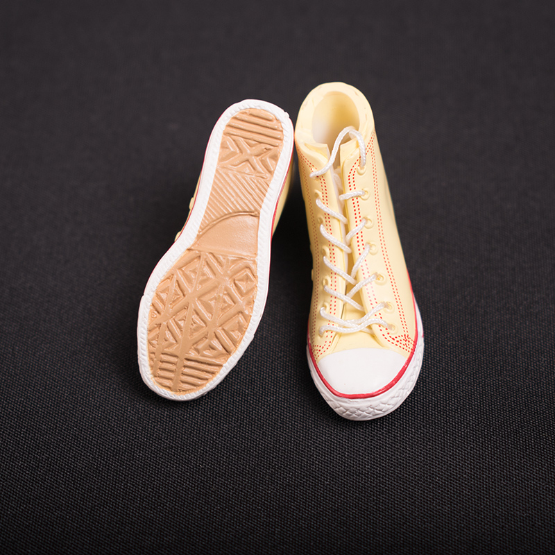 1//6 ZYTOYS Scale Black Female//Male Strap Shoes Sneakers High-top Hollow Rubber