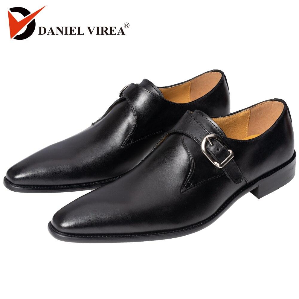 Männer der Bulkle Oxford Kleid Hochzeit Schuhe Solid Black Farbe Spitz Mönch Gurt Formalen Business Büro Slip Auf Leder müßiggänger-in Formelle Schuhe aus Schuhe bei  Gruppe 1
